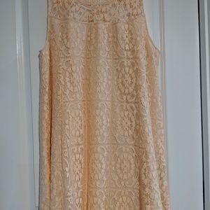 Simply Noelle peach lace dress Plus size XXL 16-18